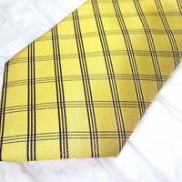 Cravatta gialla & nera Nuova 100% seta Top quality Made in Italy marca Morgana