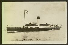 """Paddle Steamer S.S. """"Duchess of Fife"""" - Early Real Photo Postcard"""
