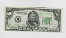 Federal Reserve Note $50 1928-A Redeemable in gold ef