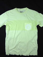 Quiksilver premium surf soft pocket t shirt men's yellow size MEDIUM