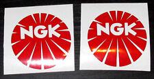 LAMBRETTA VESPA 2X NGK PLUGS RED Stickers RB,GP,SX,TV,LI,GS,GT