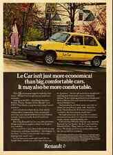 1979 vintage automobile ad, Le Car by Renault, 2dr Yellow -102712