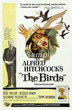 TB02 VINTAGE THE BIRDS MOVIE POSTER A4 PRINT