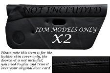Negro Stitch encaja Mazda Mx5 Mk1 Miata 89-97 Jdm 2x Puerta Tarjeta Cuero cubre sólo