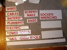 SET OF CUSTOM LABELS ~ tools, inventory, organizing, school, storage