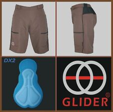 GLIDER Trail/Mountain bike Shorts w/pad BROWN (Small) >>CLEARANCE<<