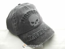 Harley Davidson Skull washed Totenkopf Baseball Cap Kappe Mütze 99422-16VM