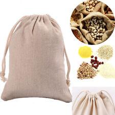 3Pcs Reusable Burlap Sacks With Drawstring Gunny Bag Cereals Sand Storage Pouch