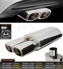 UNIVERSAL PERFORMANCE FREE FLOW STAINLESS EXHAUST BACKBOX YFX-0697  FRD3
