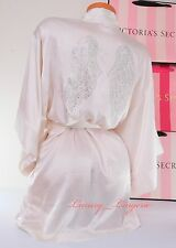 NWD VICTORIA'S SECRET Bling Angel Wings Kimono Robe VS One Size Coconut White