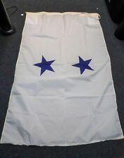 Original US Navy Rear Admiral (2 Star) Ship's Flag - size 6 New Condition 1978