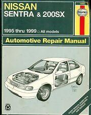 Haynes Repair Manual 1995 - 1999 Nissan Sentra & 200SX Free Shipping