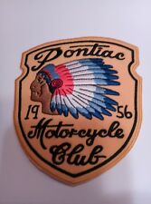 (10) PONTIAC 1956 MOTORCYCLE CLUB Biker IRON ON PATCHES Patch LOT Vintage style