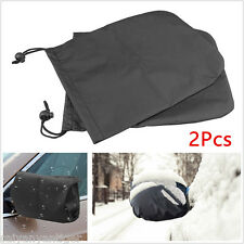 2pcs Universal Rear View Mirror Car Side Snow Cover Water Shield Adjustable Rope