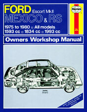 0735 Haynes Ford Escort MK II Messico, Rs 1800 & RS 2000 (1975 - 1980) MANUALE
