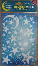 Glow in the Dark Wall Stickers reusable for children's bedroom - Stars Moon