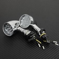 14LED Bullet Turn Signals For Harley Davidson Dyna Super Glide Custom FXDC