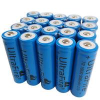 20 X 18650 Batteries 5000mAh 3.7V Li-ion Rechargeable Battery For Flashlight LED