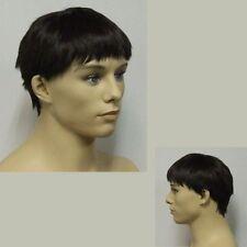 Male Black Wig - Short Black Hair