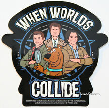 Scooby Supernatural Sam & Dean When Worlds Collide Diecut Vinyl Wall STICKER NWT