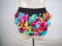 Forever 21 Blue Pink Green Floral Tiered Pencil Skirt Juniors Size Medium 7 9