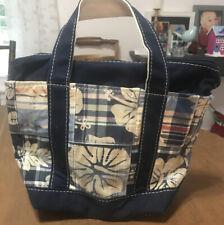 LL Bean Floral Plaid Handbag