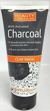 BEAUTY FORMULAS CLAY MASK WITH ACTIVATED CHARCOAL100ml / 3.3oz