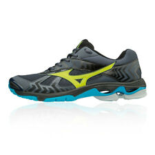 Mizuno Hombre Wave Bolt 7 Interior Corte Zapatos Negro Azul Gris Deporte