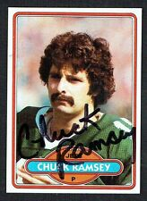 Chuck Ramsey #177 signed autograph auto 1980 Topps Football Trading Card