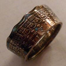 Custom Handmade AUSTRALIAN Silver Jubilee Half Dollar Ring Sizes 8 to 14