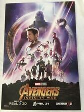 "MARVEL's AVENGERS INFINITY WAR 13""x19"" Original Movie Poster MINT Cinemark 3D"