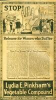 Advertising Lydia E. Pinkham's Vegetable Compound Curative Lynn Mass 1920