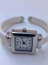 Eikon Women's Quartz Wristwatch with White Snakeskin-like Leather Cuff Watchband