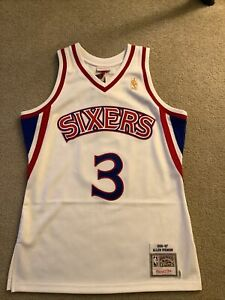 Authentic Mitchell & Ness 96'-97' Allen Iverson 76ers Rookie Jersey Size 40 M