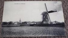 Weltevreden Windmill at Domburg - Netherlands - Antique Vintage Postcard c1910