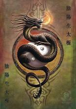 "ANNE STOKES FLAGGE / FAHNE ""YIN YANG PROTECTOR"" POSTER FLAG POSTERFLAGGE"