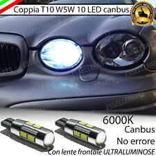 LUCI POSIZIONE 10 LED JAGUAR X-TYPE S-TYPE T10 BIANCO CANBUS NO AVARIA 6000K