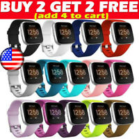 For Fitbit Versa / 2 Lite Silicone Wrist Straps Wristband Replacement Watch Band