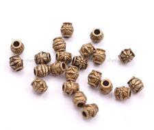 20/50/100Pcs Antique Tibetan Silver Big Hole Flower Spacer Beads 2MM Hole SH3022