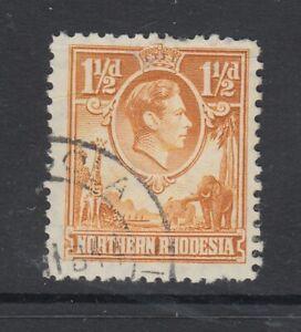 "Northern Rhodesia, SG 30b, used (slight crease) ""Tick Bird Flaw"" variety"