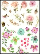 Gorgeous Flower & Leaf Stickers (3 sheets)