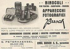 Z0556 Binocoli per campagna BUSCH - Pubblicità del 1930 - Advertising