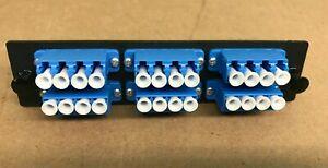 Ortronics 24 ports Fiber Optic Adapter Panel,Single Mode,6 LC Quad Connectors