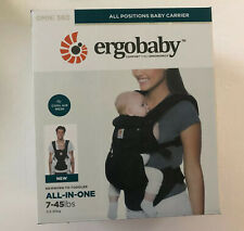 NEW Ergobaby Cool Air Mesh ALL-IN-ONE OMNI 360 Baby Carrier Black Sling 7-45LBS