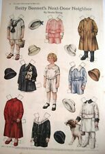 "1916 Paper Dolls by Sheila Young ""Betty Bonnet's Next-Door Neighbor"" - Uncut *"