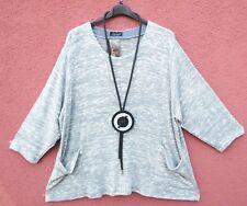SARAH SANTOS Tunika Shirt Pullover Tunic Tunique XL 48 50 Lagenlook ****