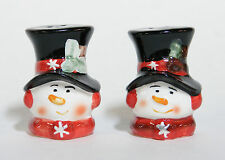 SNOWMAN SALT AND PEPPER SHAKERS CHRISTMAS HOLIDAY DECORATION