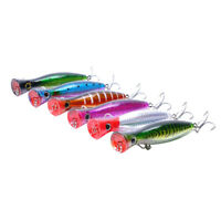 NE_ 3D Eyes Popper Lure Crank Baits Tackle Fishing Lures Crankbaits Hooks Suppli