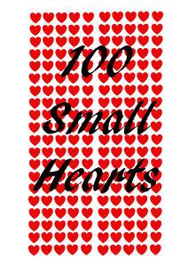 Valentines Day small Love Heart shop window wall art sticker vinyl stickers 100