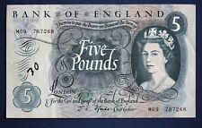 "Bank of England, Five pounds, Fforde, Prefix ""M09"", REPLACEMENT £5 note *[10432]"